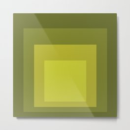 Block Colors - Yellow Green Metal Print