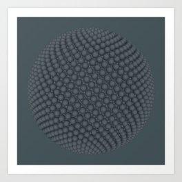 Fibo Orb Slate Art Print