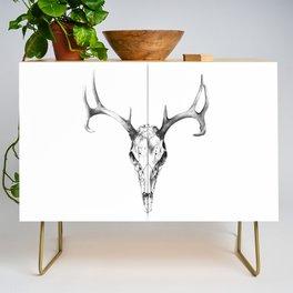 Deer Skull in Pencil Credenza