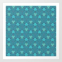 Turquoise Geo Pattern Art Print