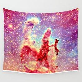 GALAXY : The Pillars of Creation Nebula Vibrant Warmth Wall Tapestry