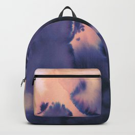 water color wave II collab Dylan Silva Backpack