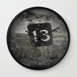 Lucky 13  Wall Clock