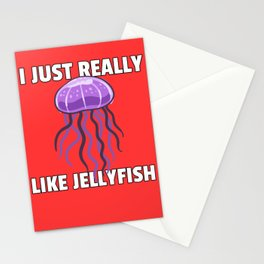 jellyfish jelly sweet medusa lover sea gift Stationery Cards