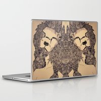 lions Laptop & iPad Skins featuring Lions by Zora Chen