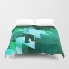 Emerald Elephant Duvet Cover