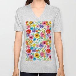 Flowers_104 Unisex V-Neck