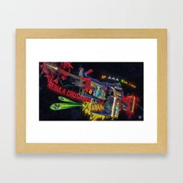 Machine Gun 10 Framed Art Print
