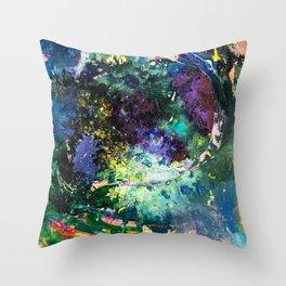Malachite Cosmos Throw Pillow
