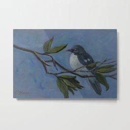 Chubby Mockingbird AC160216p Metal Print