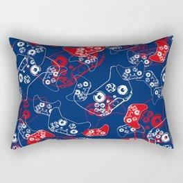 Video Game Red White & Blue 2 Rectangular Pillow