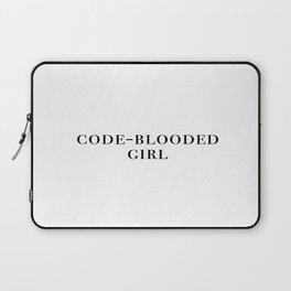 Code-blooded girl Laptop Sleeve