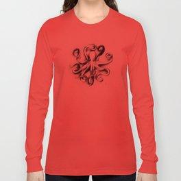 Flat Octopus Long Sleeve T-shirt