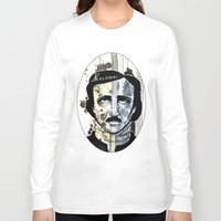 edgar allan poe Long Sleeve T-shirts featuring Edgar Allan Poe by qtrnevermore