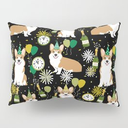 Corgi New Years Eve - corgi nye, celebration, dog, dogs, corgi pattern, cute corgi Pillow Sham
