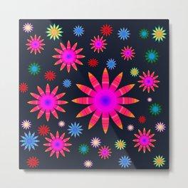 Multicolored flowers Metal Print