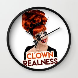 """Clown Realness"" Bianca Del Rio, RuPaul's Drag Race Queen Wall Clock"