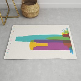 Shapes of Los Angeles accurate to scale Rug