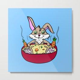 Rabbit Spa Day Metal Print