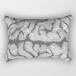 Brain vintage illustration Rectangular Pillow