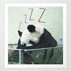 Sleepy Panda Art Print