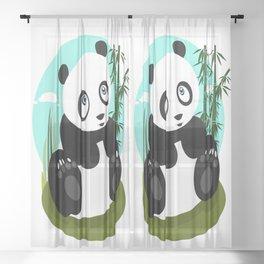 Baby Panda Sheer Curtain