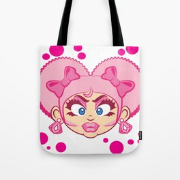 Dominique and Bubbles! Tote Bag
