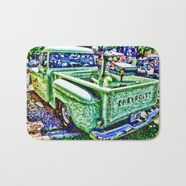 An Old Pickup Truck 4 Bath Mat