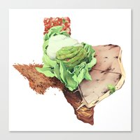 texas Canvas Prints featuring Texas by Kyle Fewell