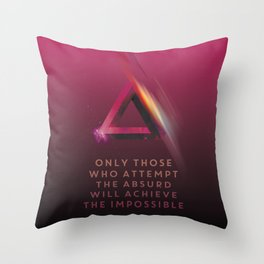 Escher: absurd and impossible! Throw Pillow