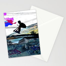 Let's Scoot! - Stunt Scooter at Skate Park Stationery Cards