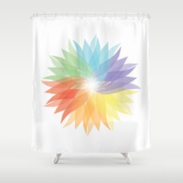 colorful lady Shower Curtain