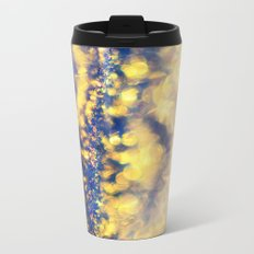 Ice Canyon in Purple and Gold Metal Travel Mug