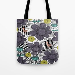 Whimsical BoHo Floral Pattern Tote Bag