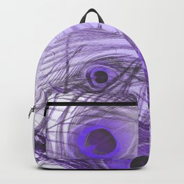 Modern purple lilac abstract peacock feathers gradient Backpack