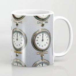 Retro clock faces on control panel Coffee Mug
