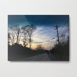 Suburban Sunset Metal Print