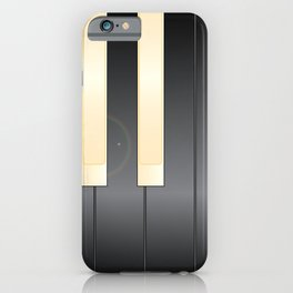 White And Black Piano Keys iPhone Case