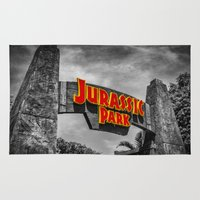 jurassic park Area & Throw Rugs featuring Jurassic Park by Mark A. Hyland (MAHPhoto)