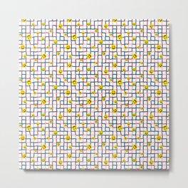 Happy Grid Metal Print