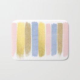 Pantone gold glitter modern minimal brushstrokes abstract art trendy palette girly pastel gifts  Bath Mat