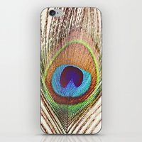 peacock iPhone & iPod Skins featuring Peacock by Laura Ruth