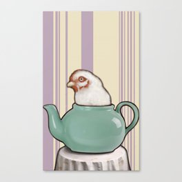 drunk poultry Canvas Print