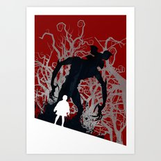 Stranger Things - TV Series | 80's | Cult | TV | Monster | Forest | Eleven | Movie | Poster Art Print