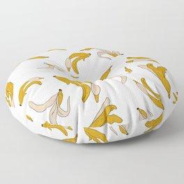 Bananas- white Floor Pillow