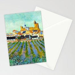 View of Saintes-Maries-de-la-Mer (1888) by Vincent van Gogh Stationery Cards