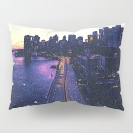 New York City Skyline Artistic View Pillow Sham