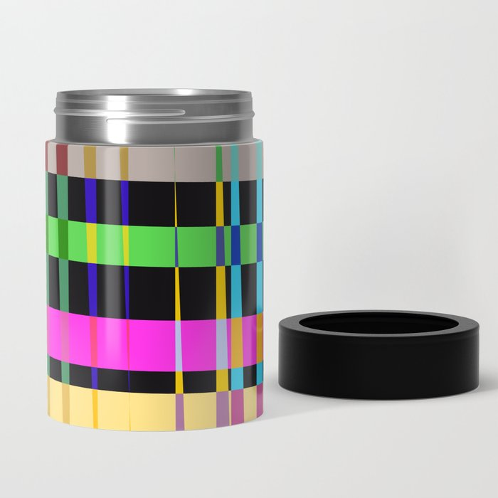 inclined coloured stripes Can Cooler