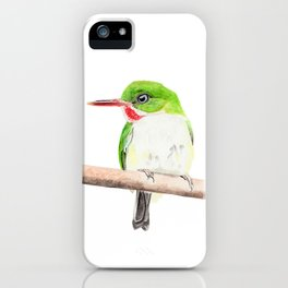 Puerto Rican Tody iPhone Case