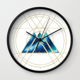 Nebula Warlock Sigil Wall Clock